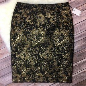 Calvin Klein metallic pencil skirt